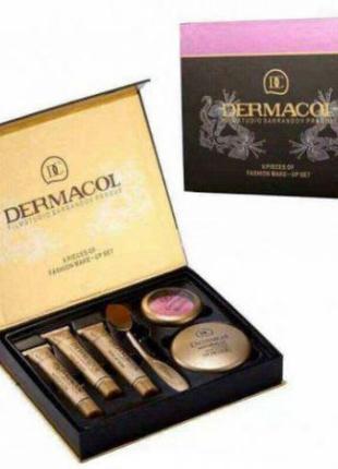 Набор Dermacol (3 тональных крема, кисть, пудра, румян) (UKC-0313