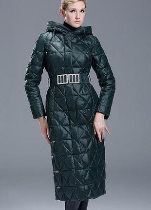 S (36) роскошный длинный зимний пуховик пальто 90% утиный пух ...