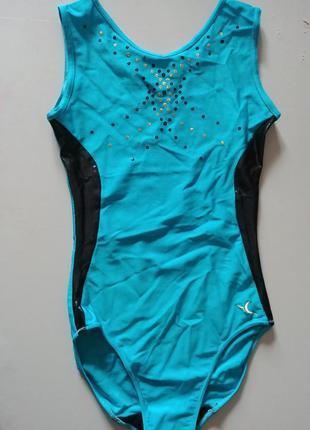 Купальник decathlon гимнастический голубой