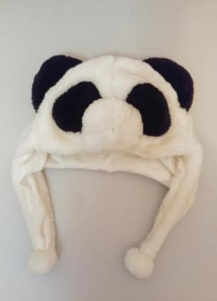 Шапка маска медведь медвідь белый панда
