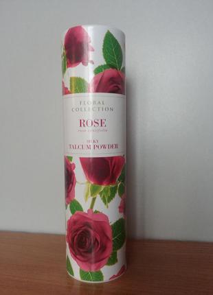 Тальк для тела 100 мл  пудра аромат розы
