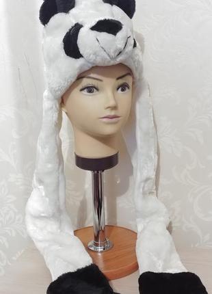 Ведмідь медведь белый панда шапка маска карнавальная