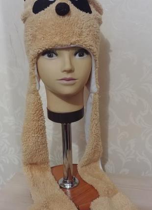 Шапка маска мишка медведь ведмідь