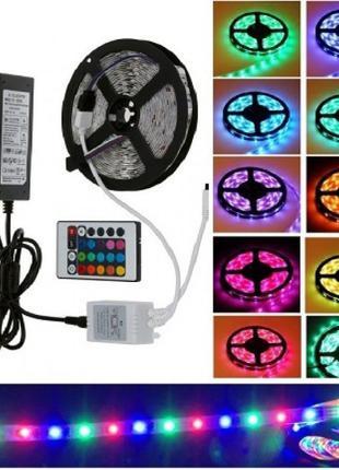 Полный комплект 5 метров LED ленты RGB 3528 ip65 гирлянда, под...