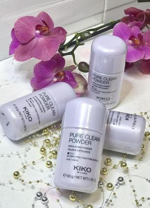 Пудра очищающая kiko milano pure clean powder