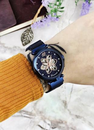 Наручные часы Forsining 1171 All Blue Наручні часи, годинник