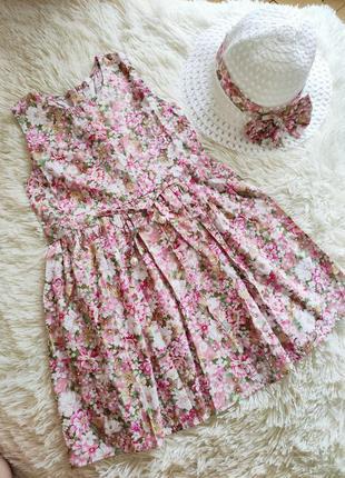 Детское платье на 3-4 года + шляпа