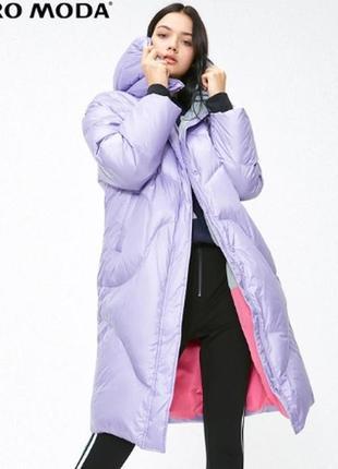 Ультролегкий зимний пуховик пальто на настоящем пуху vero moda