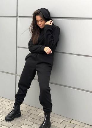 Комбинезон черный теплый