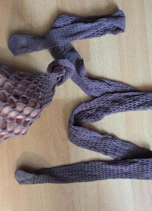 Колготки сетка крупная цвет капучино р.2-3