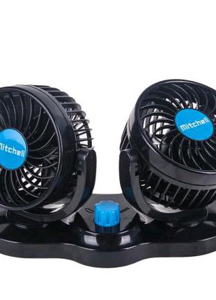 """Вентилятор VitOl HX-T303-1 4"""" 12V 6.5W двойной две скорости (HX-T"""