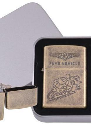 Зажигалка бензиновая в подарочной коробке + баллончик бензина ...
