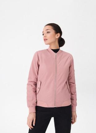 Новая женская демисезонная розовая куртка бомбер ветровка house