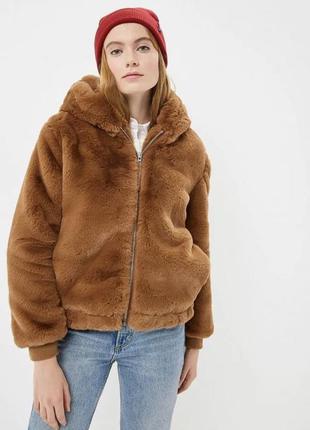 Шубка/шуба/ куртка тедди с кролика/пальто эко мех gap