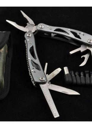 Многофункциональный нож (мультитул) с комплектом бит: MT629