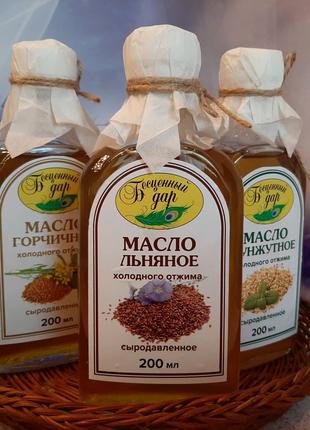 Сыродавленные масла холодного отжима на маслопрессе