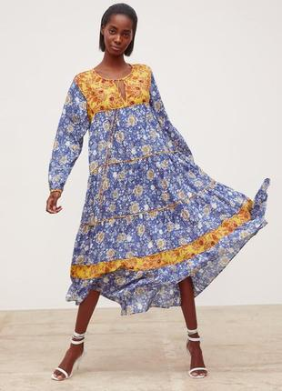 Платье миди в цветочный принт zara original