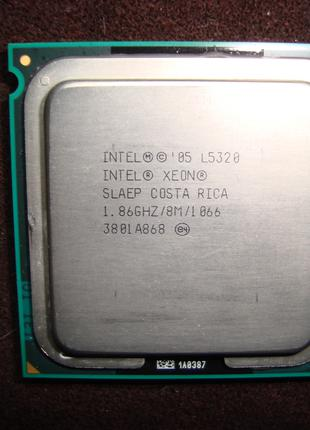 """Холодный"" 4-х ядерный процессор Intel Xeon E5320."