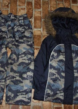 Костюм зимний полукомбинезон и куртка 4 года