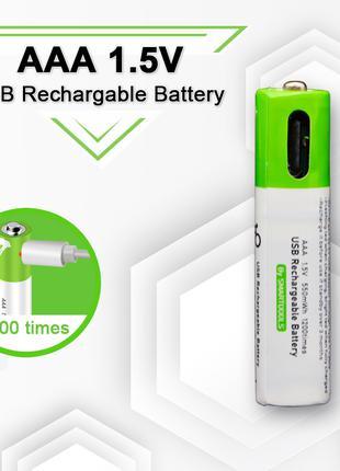 Аккумуляторы АAА, 1,5 В, Li-Pol с зарядом от USB type-C