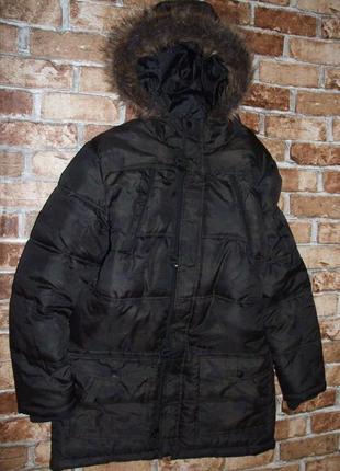 Теплая зимняя куртка парка пальто иальчику 14-15 лет rebel