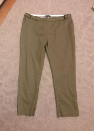 Штаны брюки повседневные хаки 14р-16