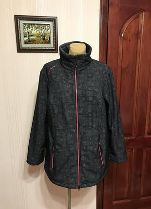 Спортивная куртка на коротком мехе plus-size
