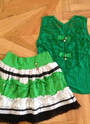 Распродажа! классная юбка для девочки, топ в подарок!