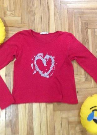 Яркая  футболка george с принтом  сердце
