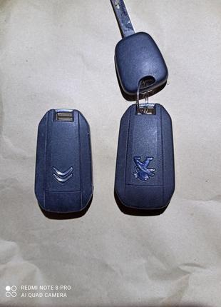 Ключ пилот плата корпус ключа Citroen C-Elysee C4 Peugeot 9802...