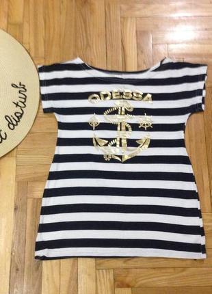 Туника-футболка в полоску одесса