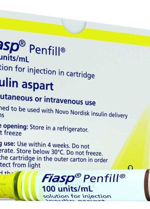 Инсулин Фиасп Fiasp (5 картриджей)