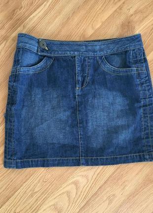 Джинсовая мини юбка george