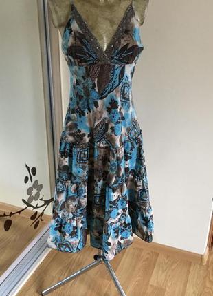 Шикарное коттоновое платье от look