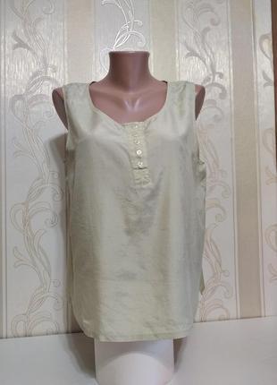 Шелковая блузка без рукавов, 100% шелк.