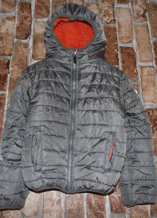 Теплая куртка мальчику 7-8 лет