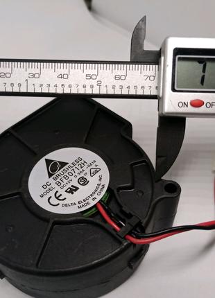 Вентилятор улитка 7530 компьютера коптильни дымогенератор увлажни