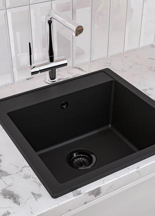 Кухонная мойка из камня Bodrum 510 Black