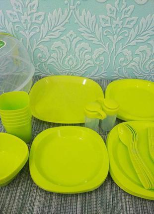 Набор посуды для пикника на 6 персон 48 предметов