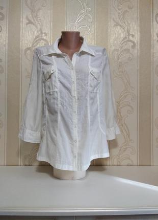 Рубашка из натуральной ткани, хлопок + шелк, bonita.