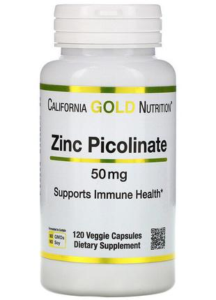 "Піколінат цинка California GOLD Nutrition ""Zinc Picolinate"" 50 мг"