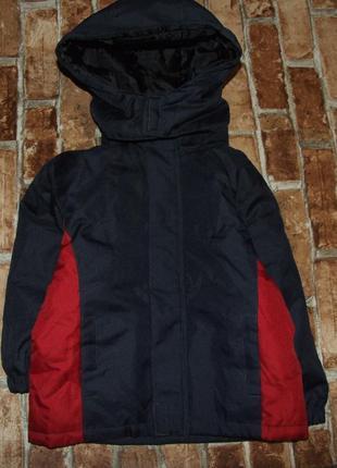 Теплая деми куртка мальчику 3 года