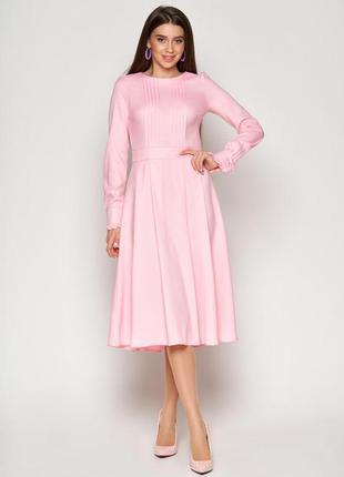 Розовое платье, платье до колен , пышное платье