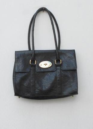 Черная сумка из кожзама