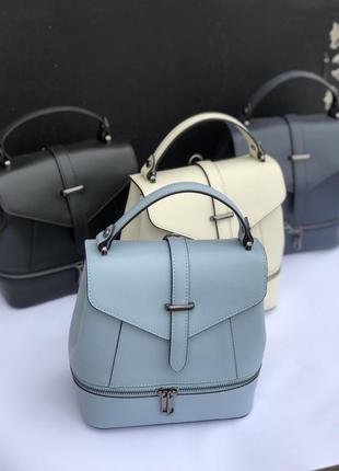Кожаные сумки рюкзаки италия женская сумка рюкзак шкіряний рюк...