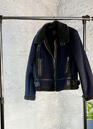 Куртка дубленка авиатор+🎁