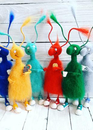 Таракан из шерсти валяные игрушки ручной работы Подарок 8марта