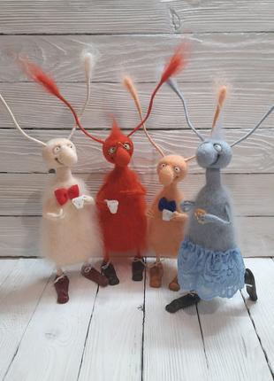 Игрушки из шерсти валяные Подарок ручная работа 8марта.