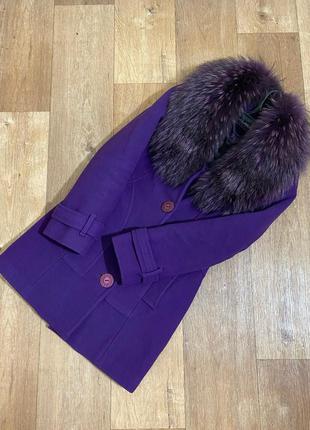 Пальто зимнее/деми с натуральным мехом енота🤩скидки подписывай...