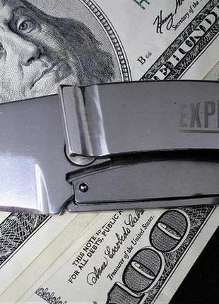 Зажим нож для денег expedition money clip knife expedition